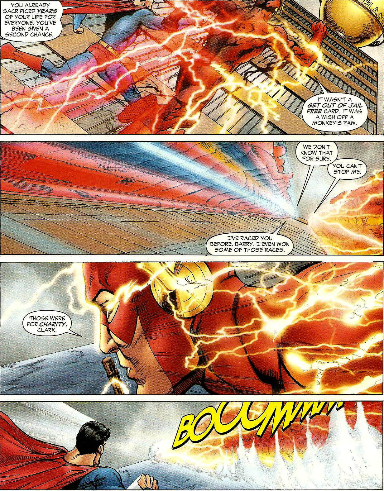 the Flash, feats of speed,