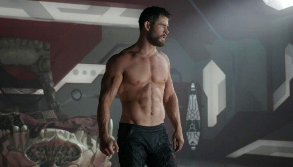 comic book art, Thor shirtless